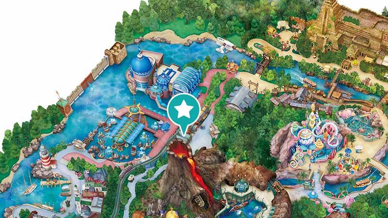 ディズニーシーのマップの画像