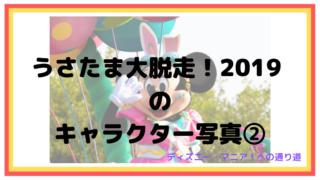 うさたま大脱走!2019 のキャラクター写真②【ディズニーランド】