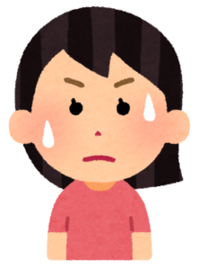 汗をかいている女性のイラスト