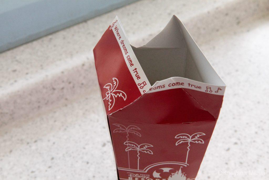 ディズニー:ポップコーンレギュラーボックスの正しい折り方の画像