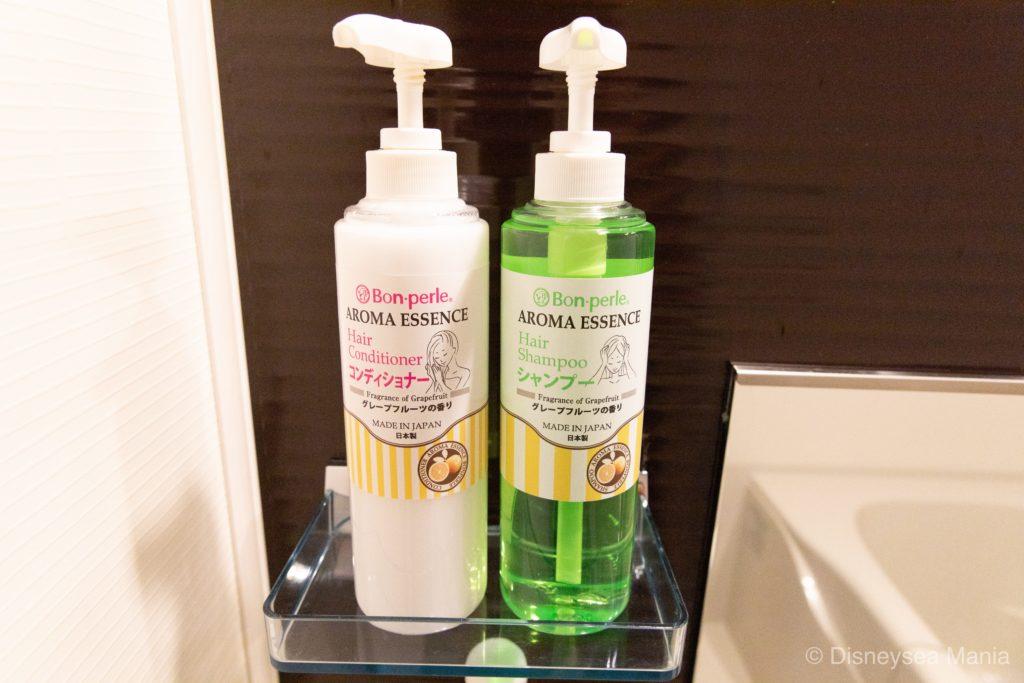 【変なホテル舞浜】部屋の風呂(バス)のシャンプー画像
