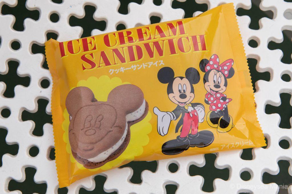ミッキー・クッキーサンドアイスの画像