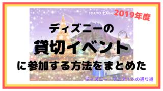 ディズニーの貸切イベントに参加する方法をまとめた【2019】