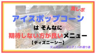 【食レポ】アイスポップコーンはそんなに期待しない方が良いメニュー【ディズニーシー】