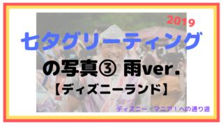 【2019】七夕グリーティングの写真③:雨バージョン【ディズニーランド】