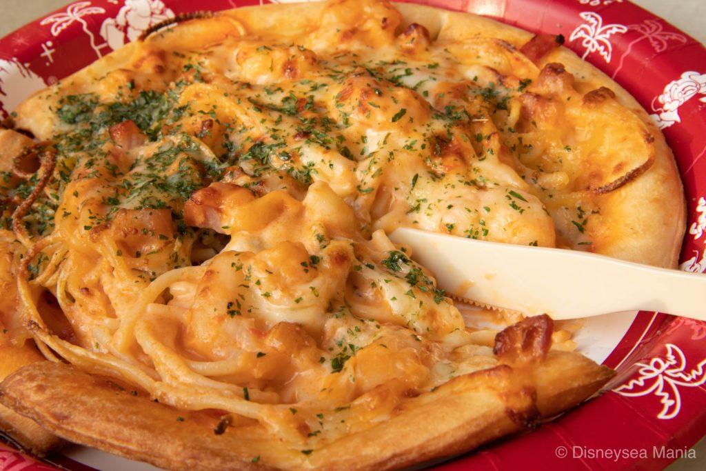 【2019 食レポ】スパゲッティピッツァに拍手!ボリューム満点で美味な高コスパメニュー【ディズニーシー】