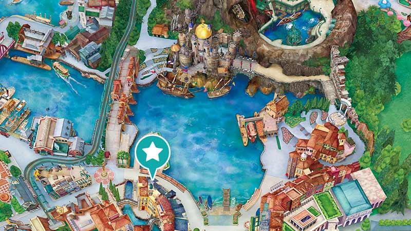 ゴンドリエ・スナックの地図の画像