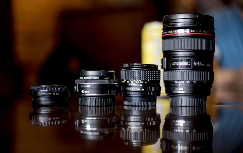 カメラのレンズの画像