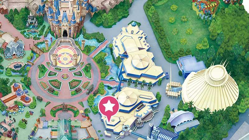 プラズマ・レイズ・ダイナー@東京ディズニーランドの画像の地図