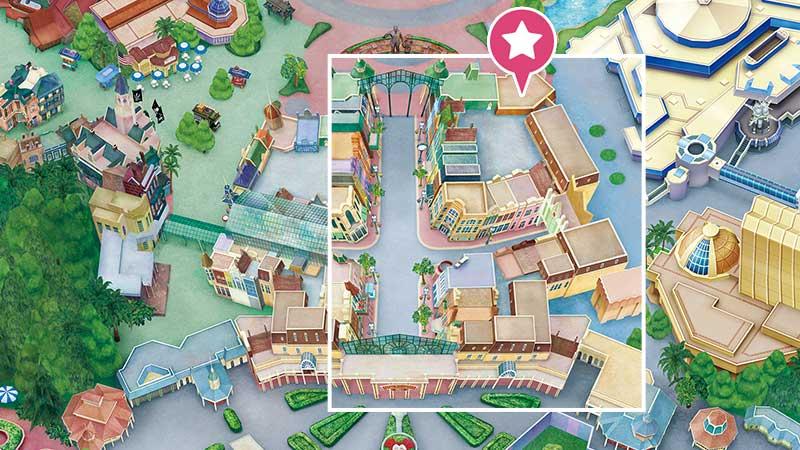 スウィートハート・カフェ @東京ディズニーランドの地図