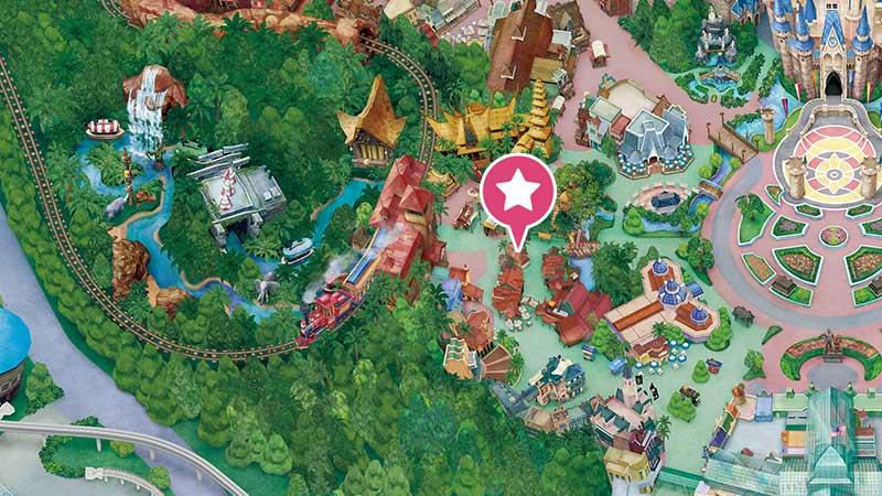 スクウィーザーズ・トロピカル・ジュースバーの地図