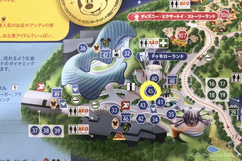 ポップコーンワゴンの場所(上海ディズニーランド)の画像
