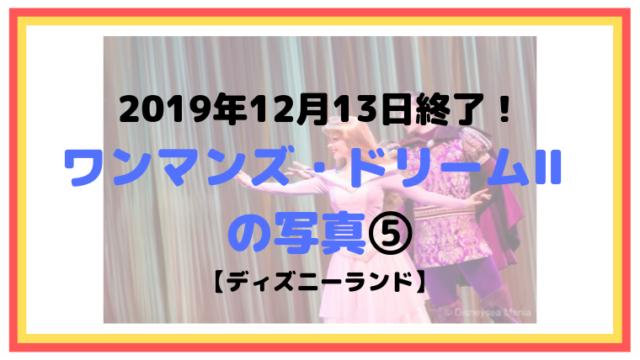 2019年12月13日終了!ワンマンズ・ドリームⅡ の写真⑤【ディズニーランド】