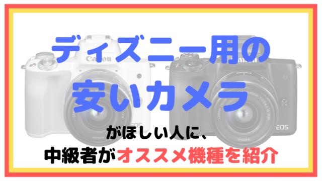 ディズニー用の安いカメラがほしい人に、中級者がオススメ機種を紹介