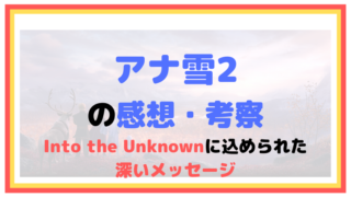 『アナと雪の女王2』の感想・考察を書く【Into the Unknownに込められたメッセージ】