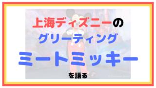 【上海ディズニー】ミートミッキーについて解説【グリーティング】