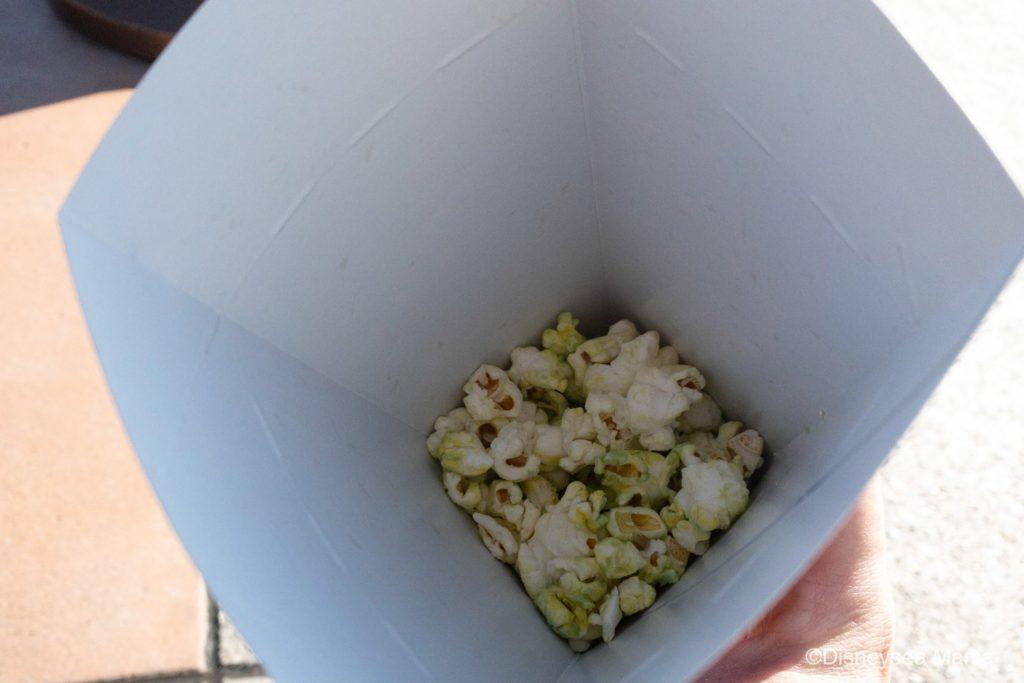 抹茶ホワイトチョコのポップコーン(ディズニー)の画像