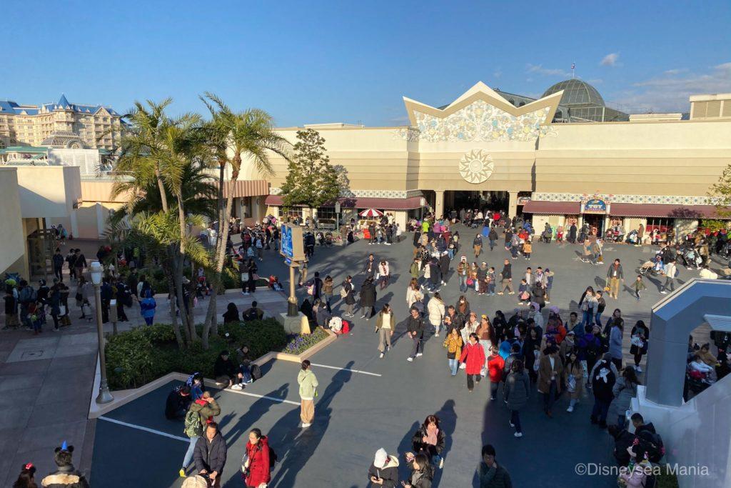 2020年1月2日のディズニーランドの混雑具合の画像