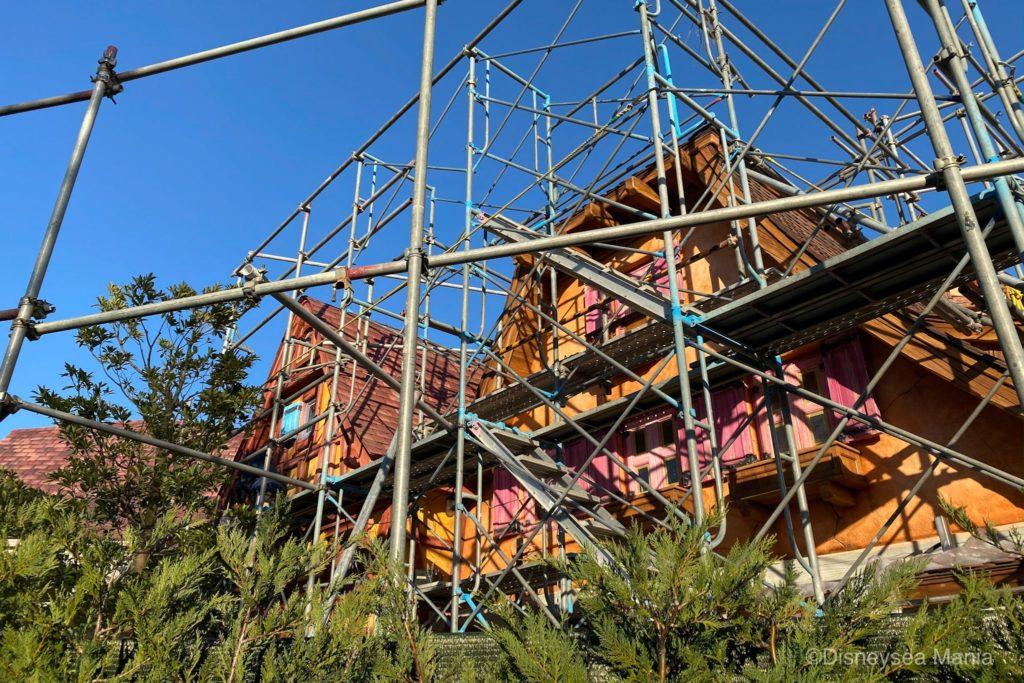 美女と野獣エリアの工事中の画像