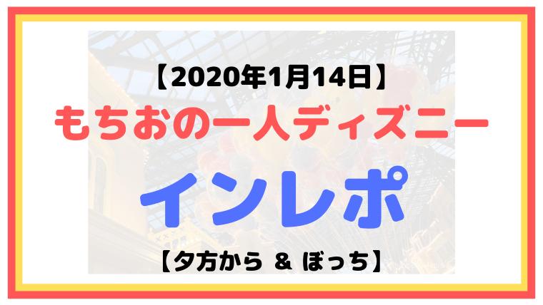 【2020年1月14日】もちおの一人ディズニーインレポ【夕方から&ぼっち】