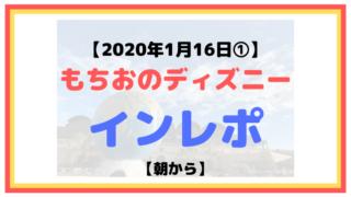 【2020年1月16日①】もちおのディズニーインレポ【ソアリン乗れた】