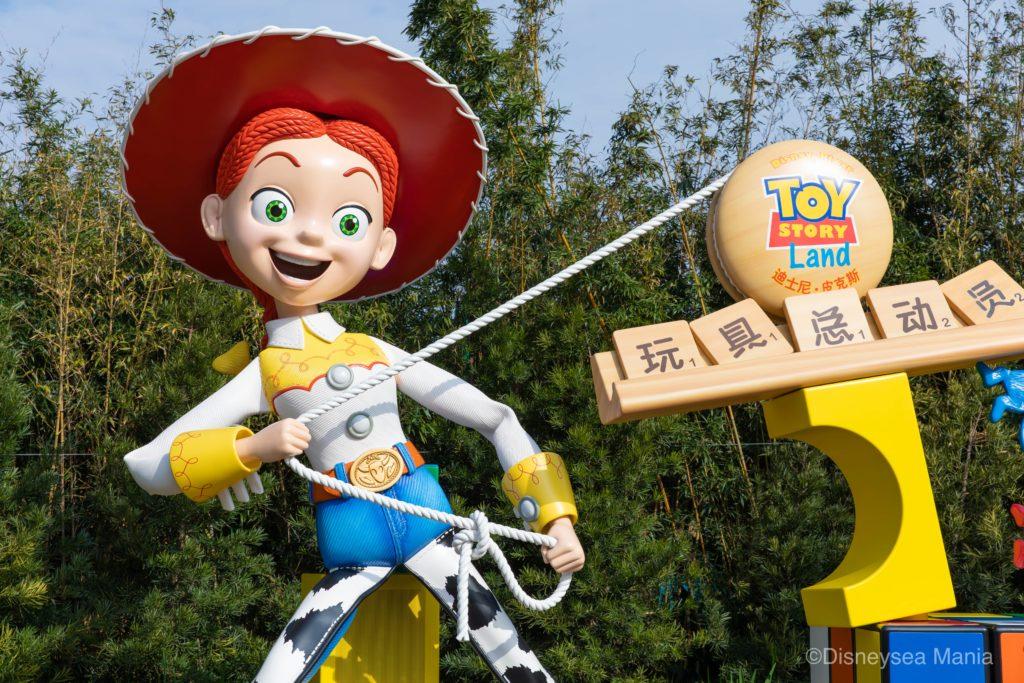 上海ディズニーランドのトイ・ストーリーランドのジェシーの画像