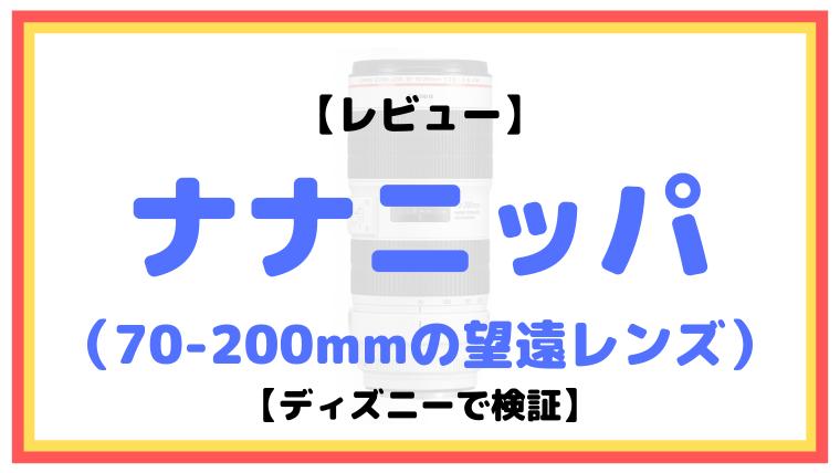 ナナニッパ(70-200mmの望遠レンズ)レビュー【ディズニーで検証】